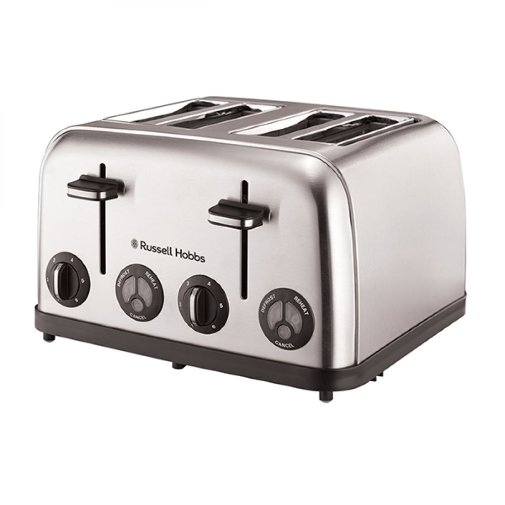 4 SLICE STAINLESS STEEL TOASTER