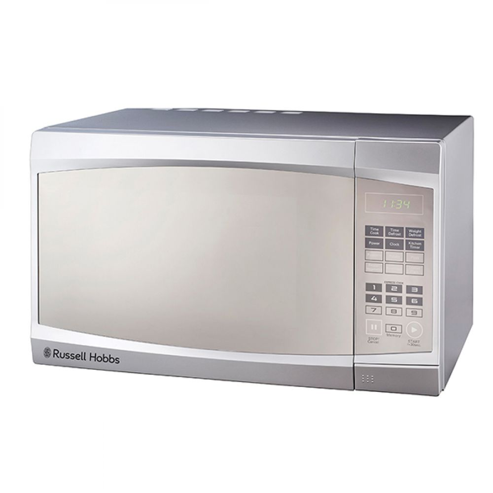 30L ELECTRIC SILVER MICROWAVE WITH MIRROR FINISH