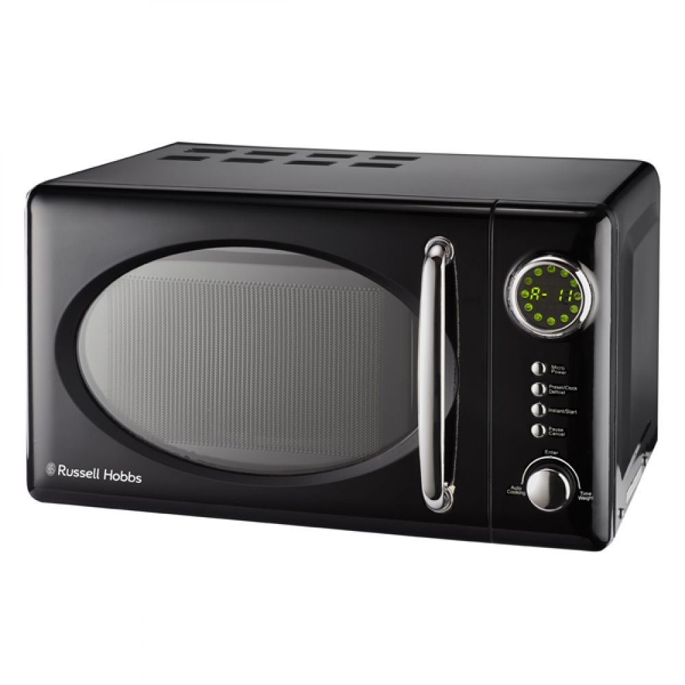 20L RETRO BLACK MICROWAVE