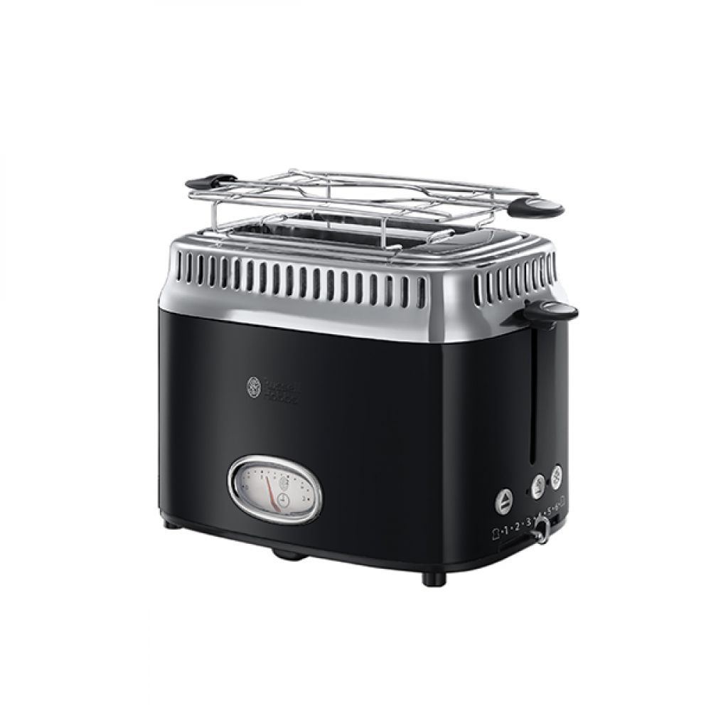 2 SLICE RETRO BLACK TOASTER
