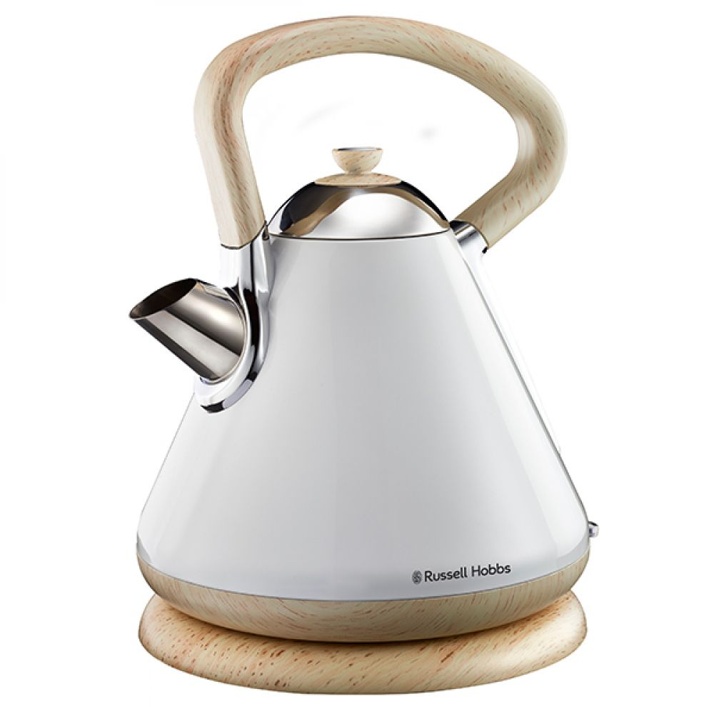 1.7L WHITE AND WOOD KETTLE