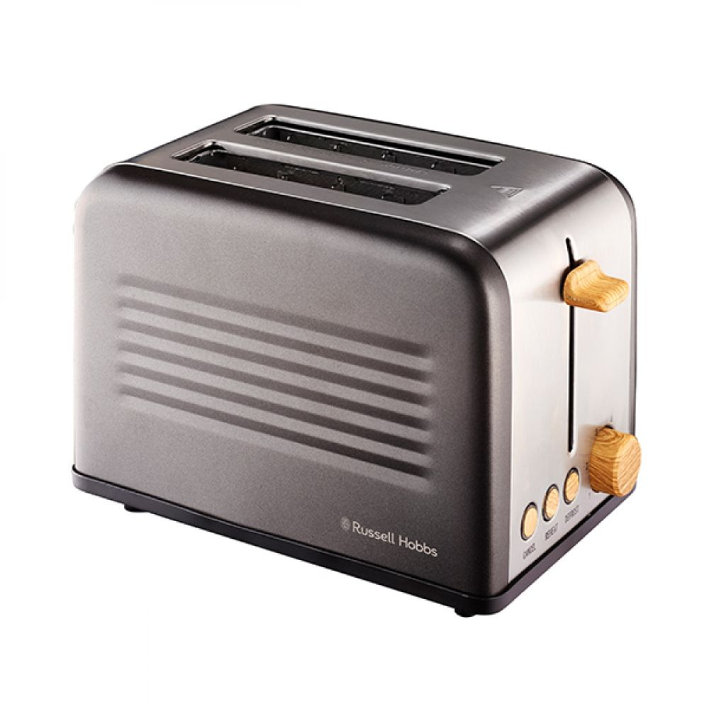 2 SLICE RUSTIC WOOD TOASTER
