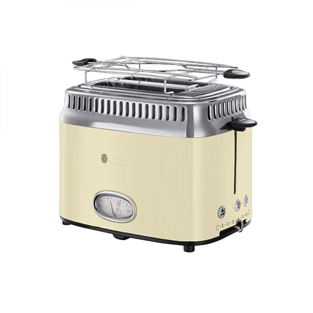 2 SLICE RETRO CREAM TOASTER