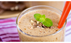 Low Fat Chocolate Crunch Smoothie